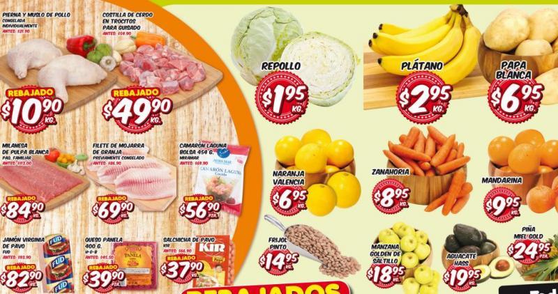 Frutas y verduras HEB del 15 al 17 de octubre: plátano $2.95 el kilo y más