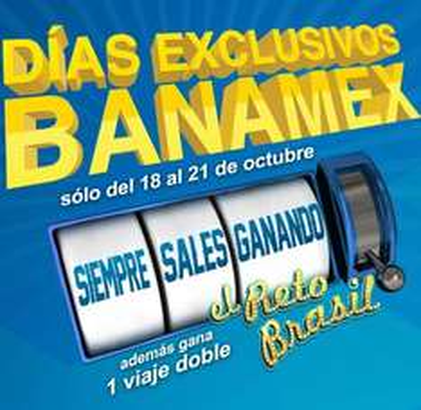Días exclusivos Banamex del 18 al 21 de octubre