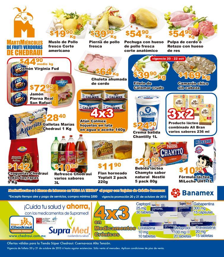Chedraui: ofertas de martimiércoles 20 y 21 de octubre