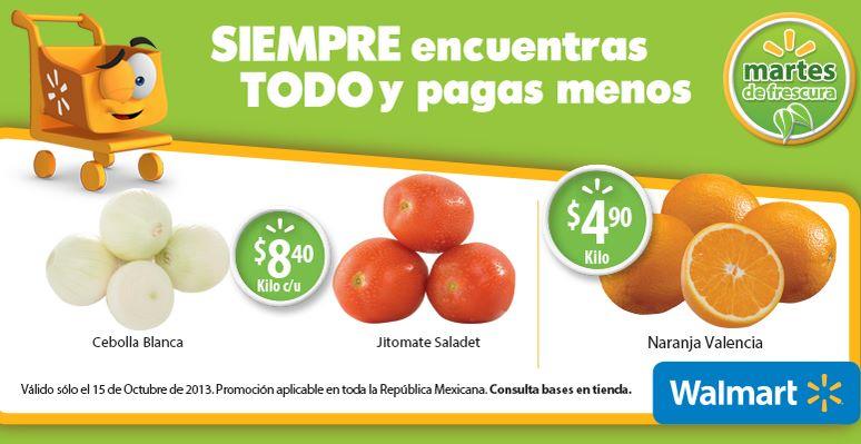 Martes de frescura Walmart octubre 15: jitomate $8.40 el kilo y más