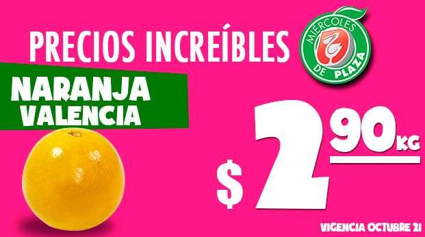 Miércoles de Plaza en La Comer octubre 21: naranja $2.90 el kilo y más