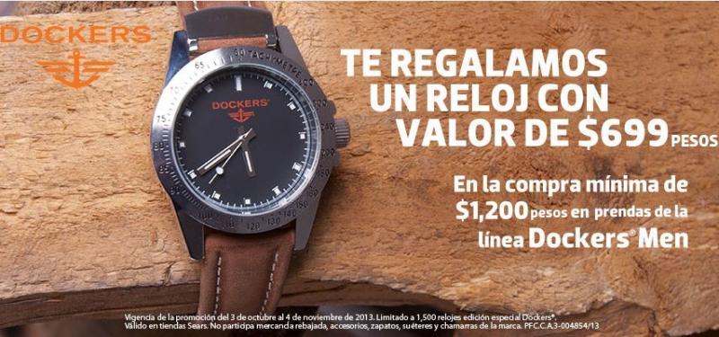 Sears: reloj Dockers gratis con compra mínima