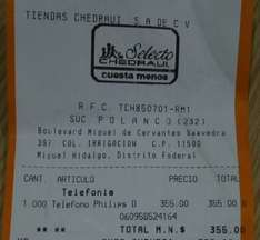 Chedraui (Polanco): Teléfonos inalámbrico PHILLIPS D150 Duo en $355