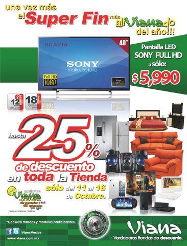 """Viana: pantalla LED Sony de 40"""" $5,990"""