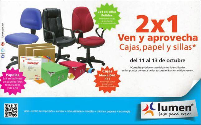 Lumen: 2x1 en sillas, papel y cajas seleccionadas