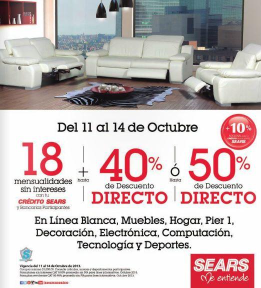 Sears: 3x2 en calzado, descuentos en línea blanca, muebles, computación y más