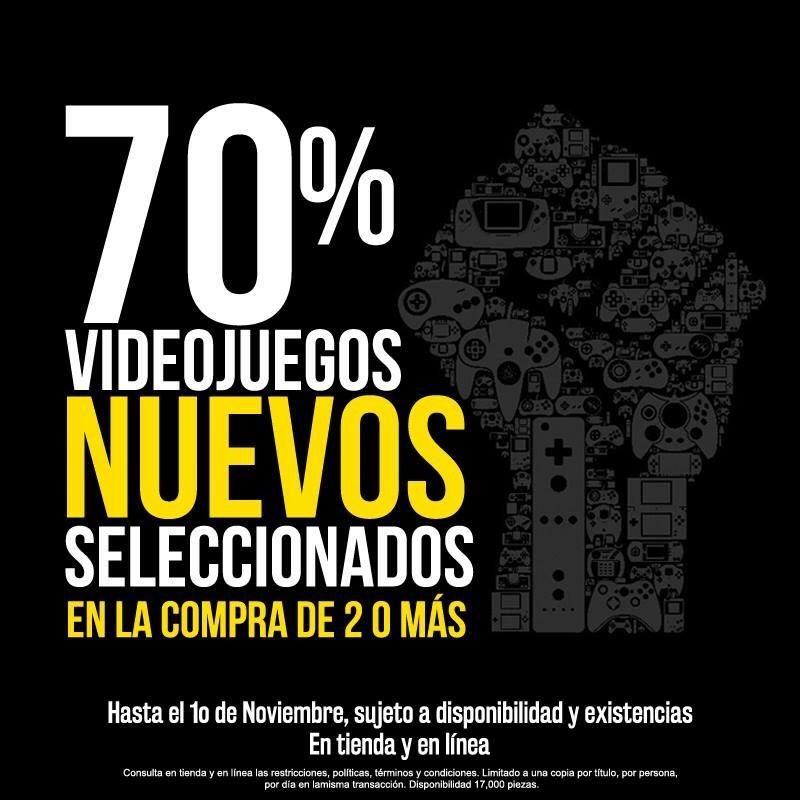 Blockbuster: 70% de descuento comprando 2 videojuegos seleccionados (tienda física y online)