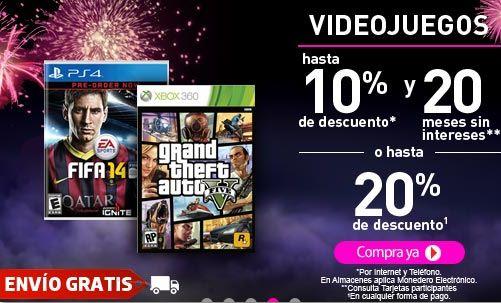Ofertas de videojuegos en la venta nocturna de Liverpool 11 y 12 de octubre