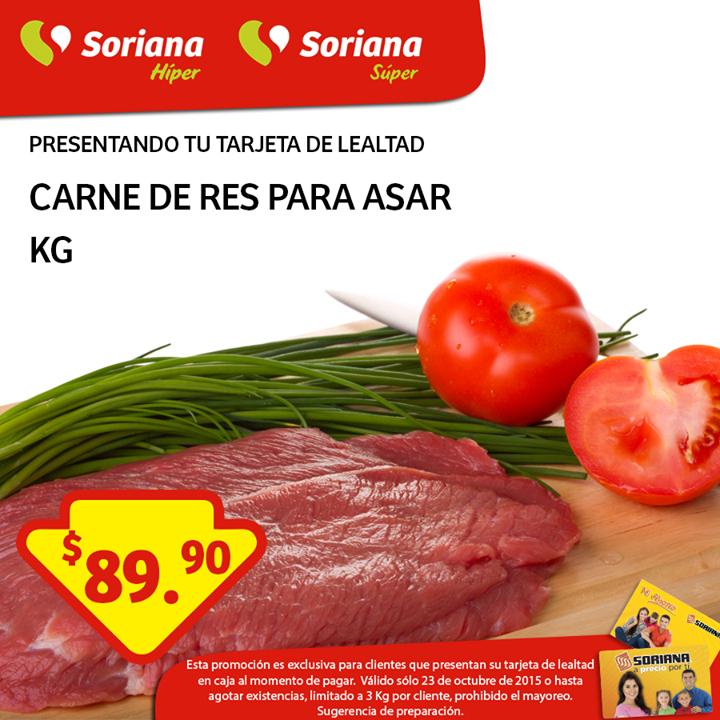 SORIANA: Carne para Asar $89.90 KG