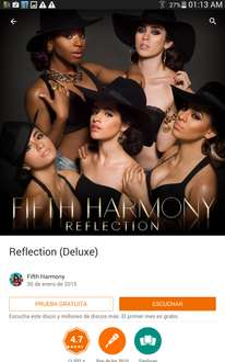 Google Play: FIFTH HARMONY, Reflection (deluxe) GRATIS