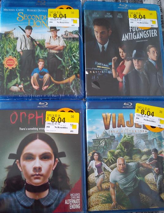 Walmart Cuemanco DF.- Peliculas Blue Ray 8.04 pesos, varias ofertas
