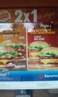 Burger King: 2x1 en Whopper Fest, Big King y más con Banamex