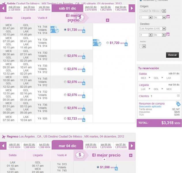 Volaris: nacionales desde $599 y a USA desde $109 dólares en julio y agosto