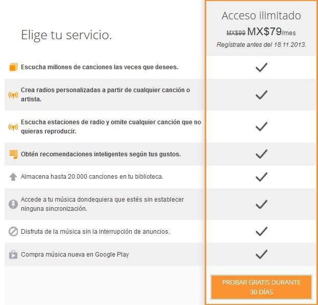 Google Play Music llega a México: 1 mes gratis y precio especial de introducción