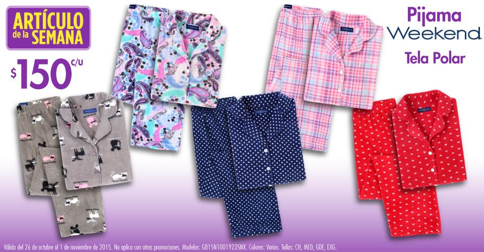 Suburbia: pijama tela polar Weekend de mujer $150