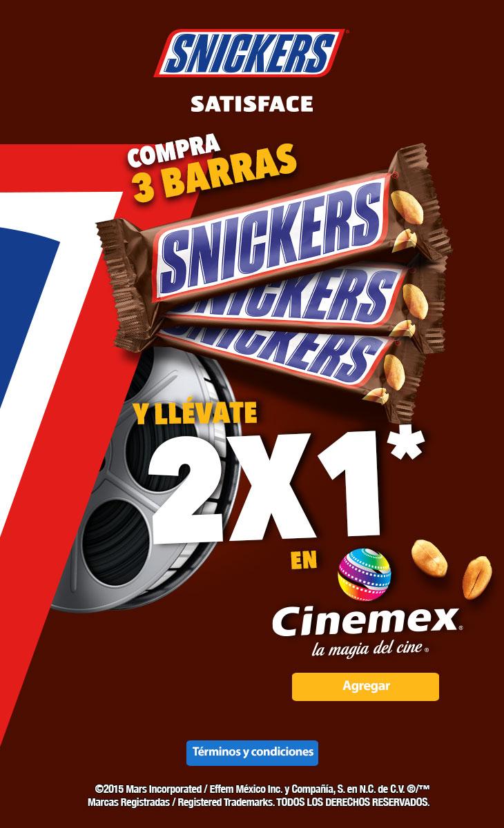 Walmart y Cinemex: SNICKERS te invita a Cinemex