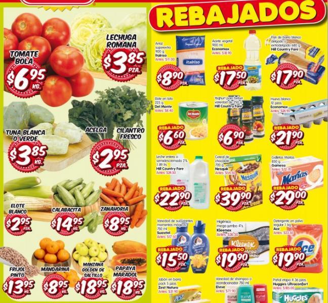 Frutas y verduras HEB del 8 al 10 de octubre: tomate $6.95 y más