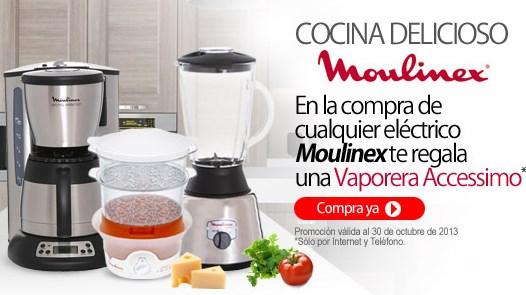 Liverpool: vaporera gratis comprando eléctrico Moulinex y batería gratis con horno Koblenz