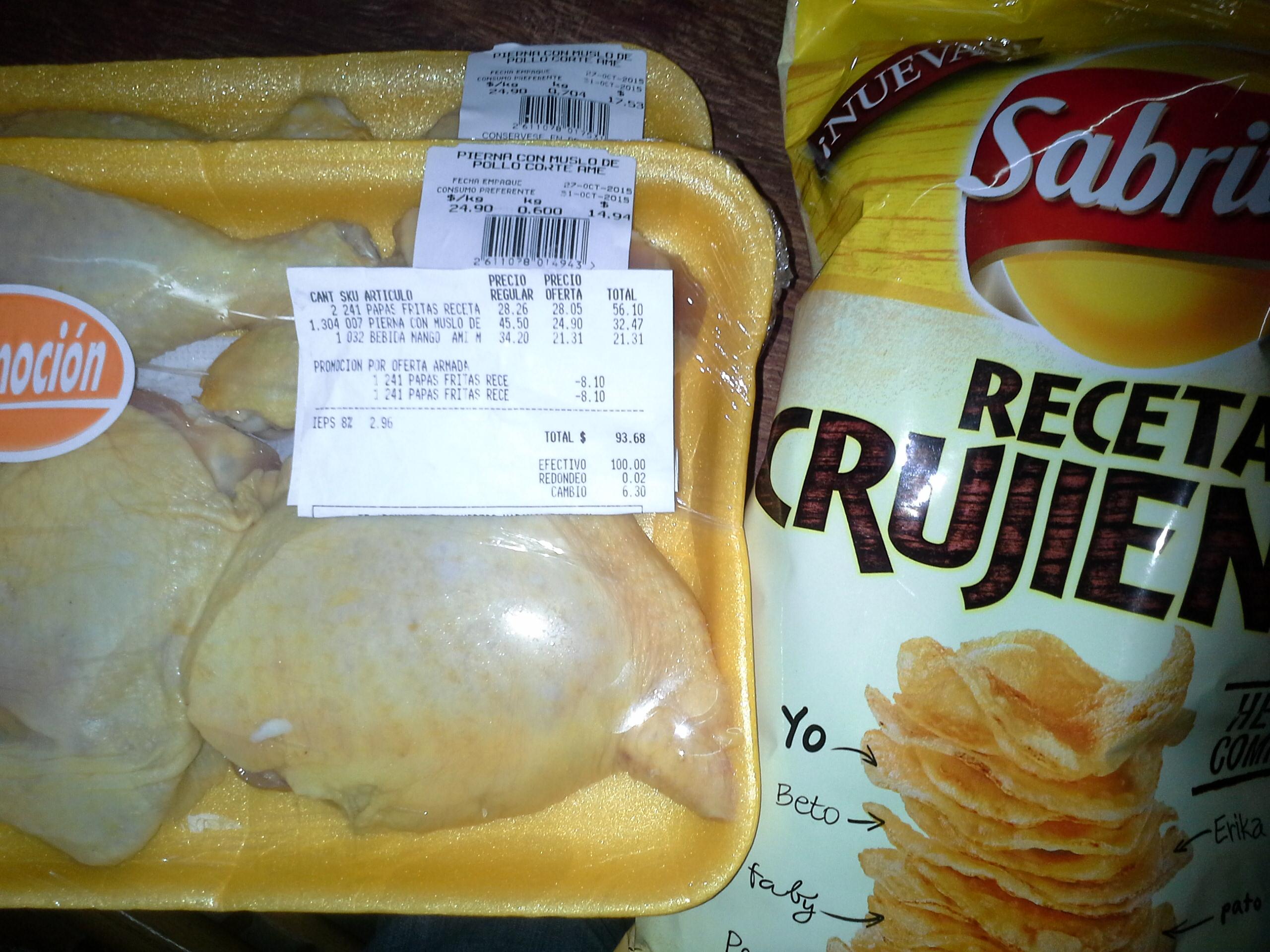 La Comer : El kilo de pierna con muslo a $24.90