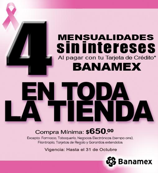 La Comer: 4 meses sin intereses en toda la tienda con Banamex