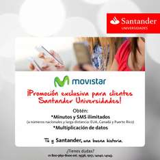 Beneficios Santander Universidades y Movistar
