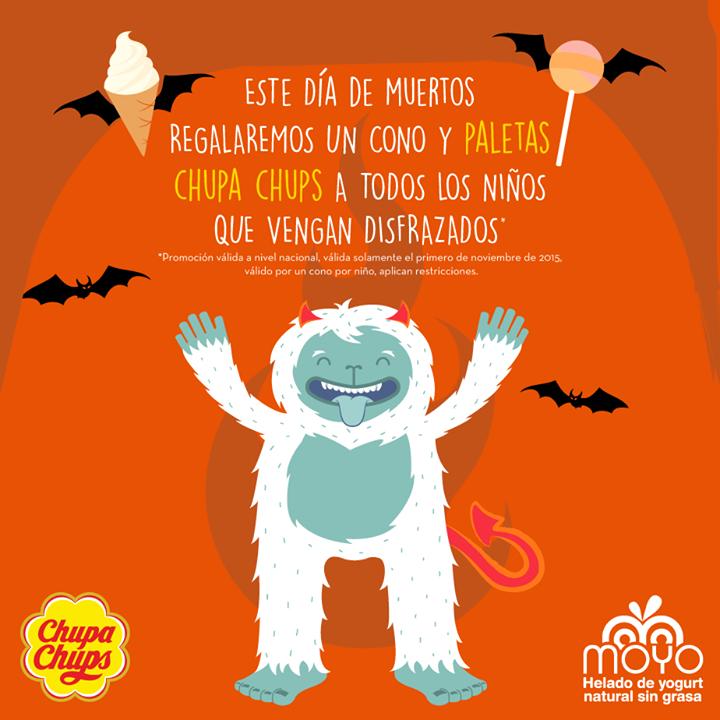 Moyo Frozen Yogurt: cono y paletas gratis para niños disfrazados el 1 de noviembre
