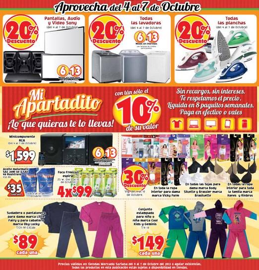Mercado Soriana: 20% de descuento en marca Sony, lavadoras, planchas y más