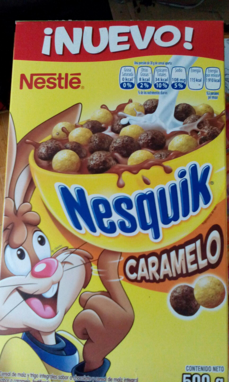 Superama:  Cereal Nesquik caramelo de 500 gr $20.00
