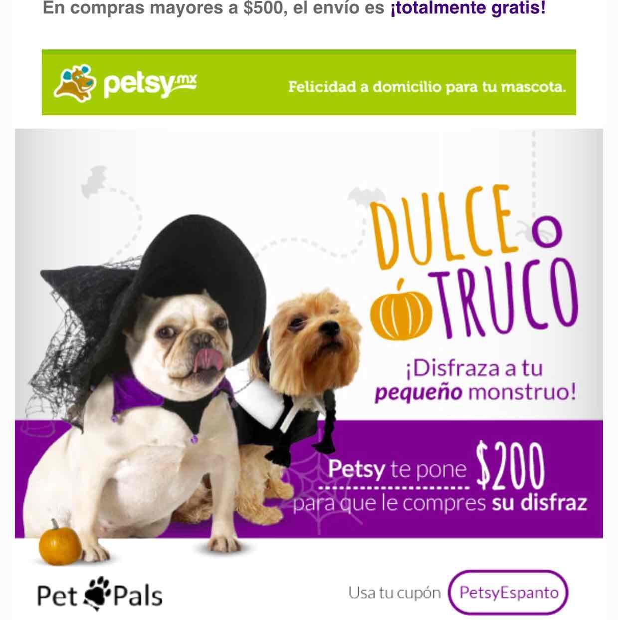 Petsy: Cupón $200