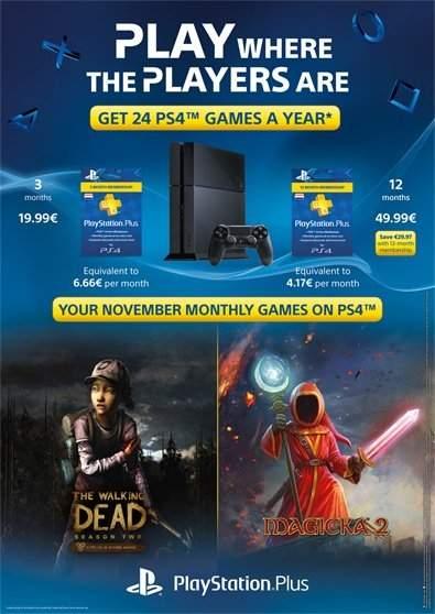 PSN Juegos de PS+ Noviembre. Magicka 2 y The Walking Dead EP 2