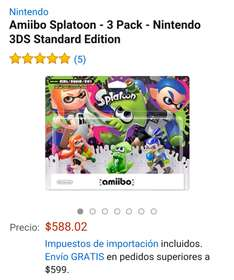 Amazon: Amiibo Splatoon 3 Pack $594