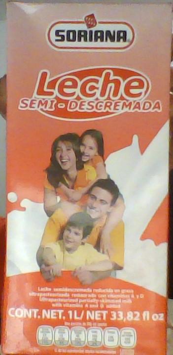 Soriana: Leche Semi-Descremada de 1L en $6.45