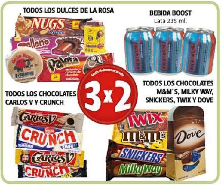 Farmacias Guadalajara: 3x2 en pañales, M&M's, Carlos V, Boost, Milky Way y más
