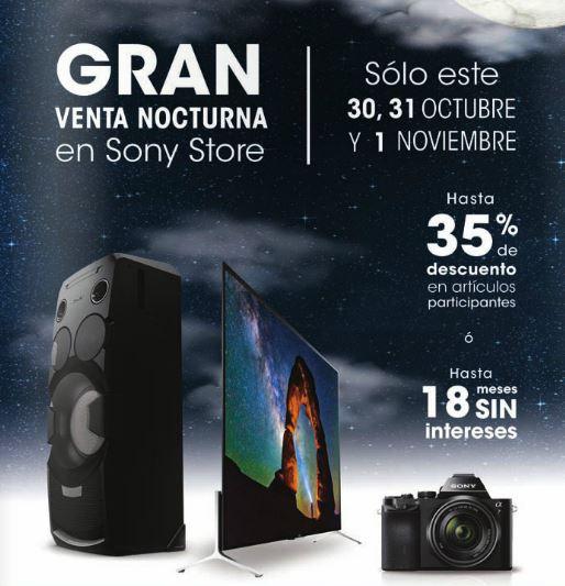 Sony Store: Venta Nocturna este fin de semana.