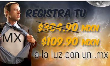 Dominios .mx desde $45 el año