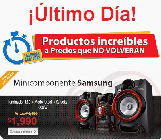 Horas contadas Walmart: minicomponente Samsung $1,990 (otras tiendas $4,500)