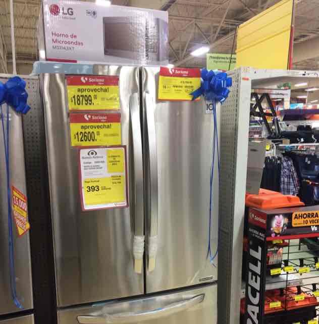 Soriana: refrigerador lg 24 pies mas microondas de regalo en $12,600