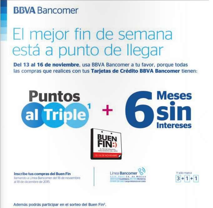 Promociones del Buen Fin 2015 con Bancomer