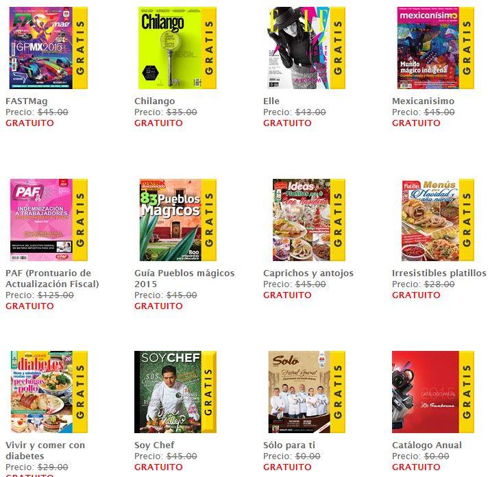 Sanborns: Revistas digitales gratis de Noviembre + Libros