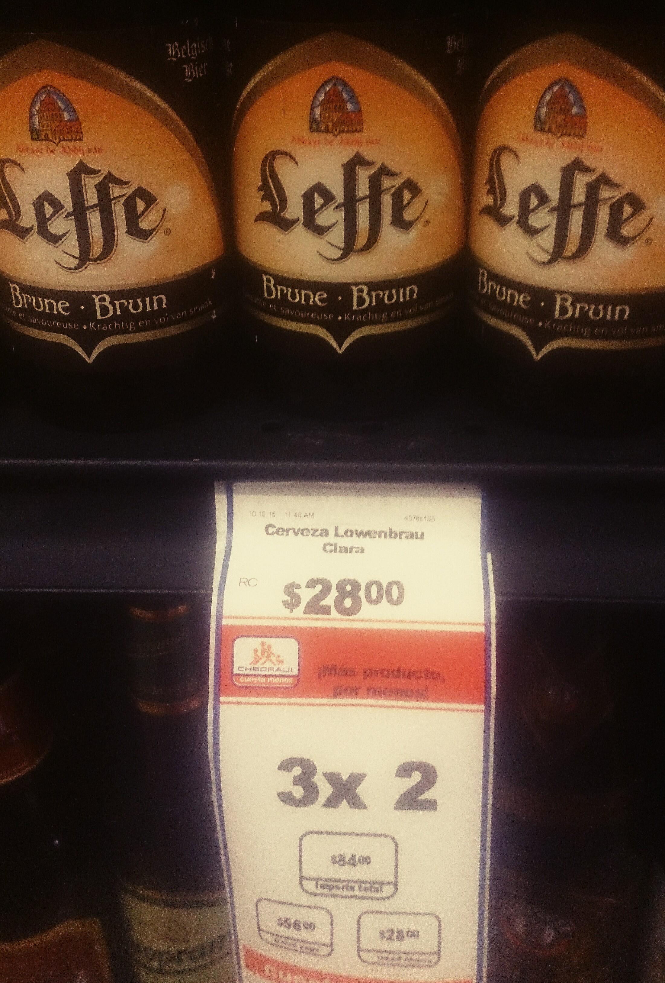 Chedraui Mundo E: Cervezas Leffe 3x2