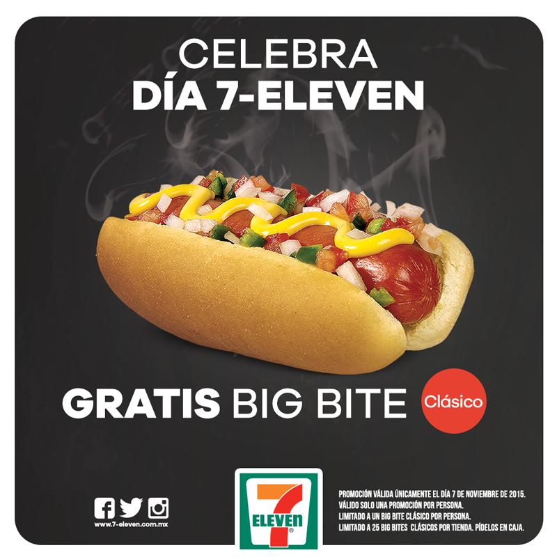 Día 7 Eleven: cafés y hot dogs gratis