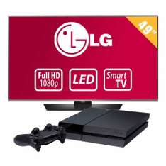 Walmart -TV LG 49 Pulgadas 1080p Full HD Smart TV LED + Playstation 4 y obtén Tarjeta de Regalo de $600 con BAnamex
