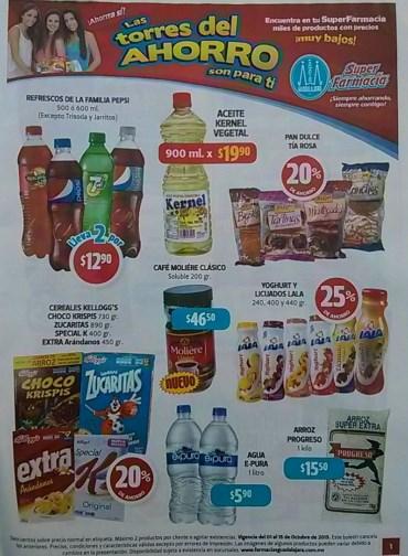 Folleto Farmacias Guadalajara del 1 al 16 de octubre de 2013