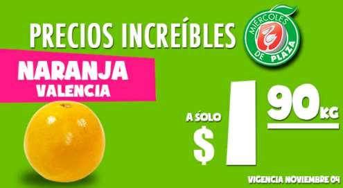 Miércoles de Plaza en La Comer noviembre 4: naranja $1.90 el kilo y más