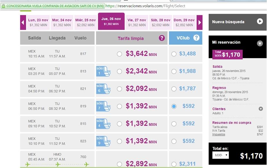 Volaris, Vuelos desde $599 Sencillo, Oferta p/Viernes Negro a Tijuana $1,170 Redondo