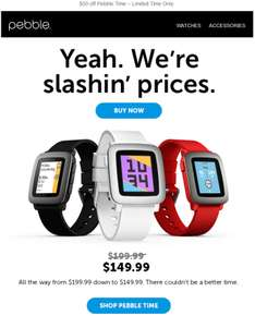 Pebble Time con 25% off.