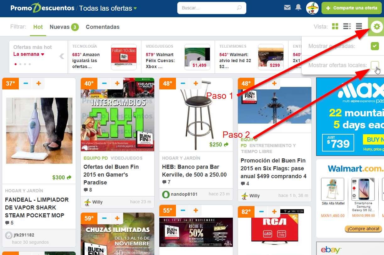 Cómo ocultar las publicaciones de liquidaciones de Walmart, Aurrerá y otros supermercados