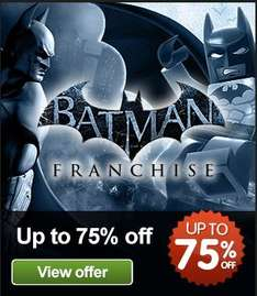 Juegos PC: Arkham Asylum o Lego Batman US$4, Arkham City o Lego Batman 2 $6 y más