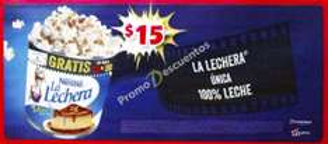 Boletos de cine 2D o 3D GRATIS comprando La Lechera