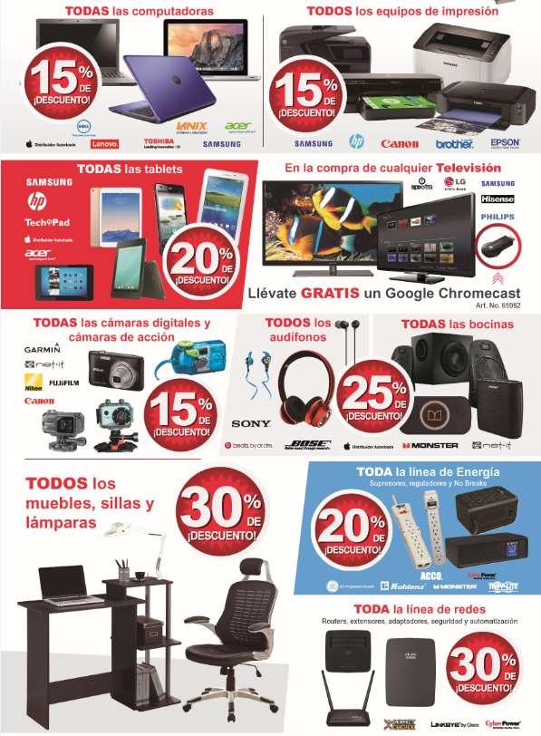 Venta especial Office Depot Online: 15% todas las computadoras, 20% todas las tablets, 30% en muebles y más